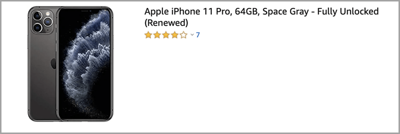 iPhone 11 Pro in Amazon - Rating System Upselling Tactics