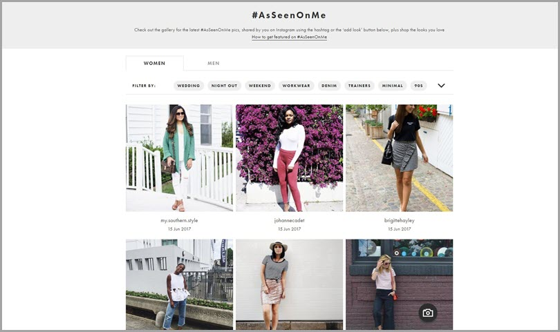 #AsSeenOnMe Content Communities User-Generated Content