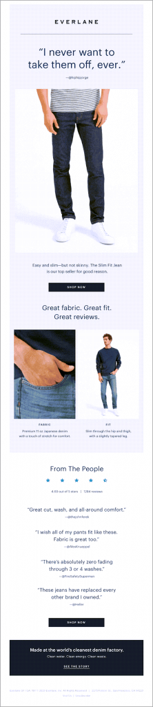 Everlane User Testimonial User-Generated Content
