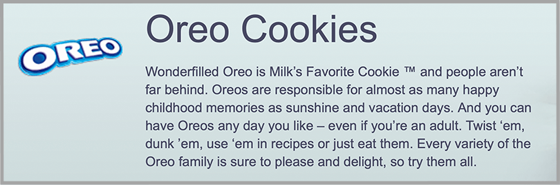 Snack Works Oreo Cookies Power Verbs for Persuasive Copywriting