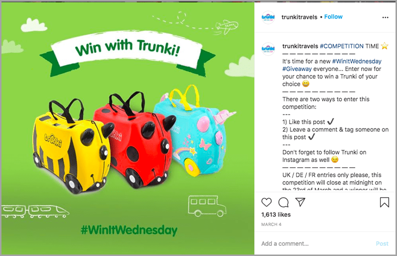 TrunkiTravels-WinItWednesday-Social-Sharing-Post-Ecommerce-Social-Media