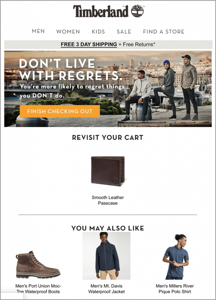 5-eCommerce-Email-Marketing-Tips-You-Need-to-Sell-in-2020-Experiment-with-Cross-Selling-and-Upselling-Cross-Selling-Tactic-Timberland