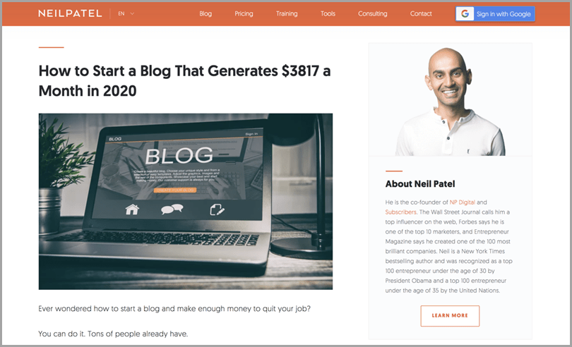 blogging-success-neil-patel-how-to-start-a-blog-that-generates-3817-a-month-in-2020