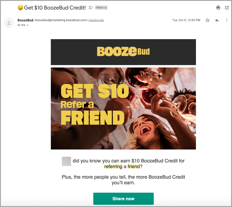 starting-an-ecommerce-business-booze-bud-reward-friend-referral