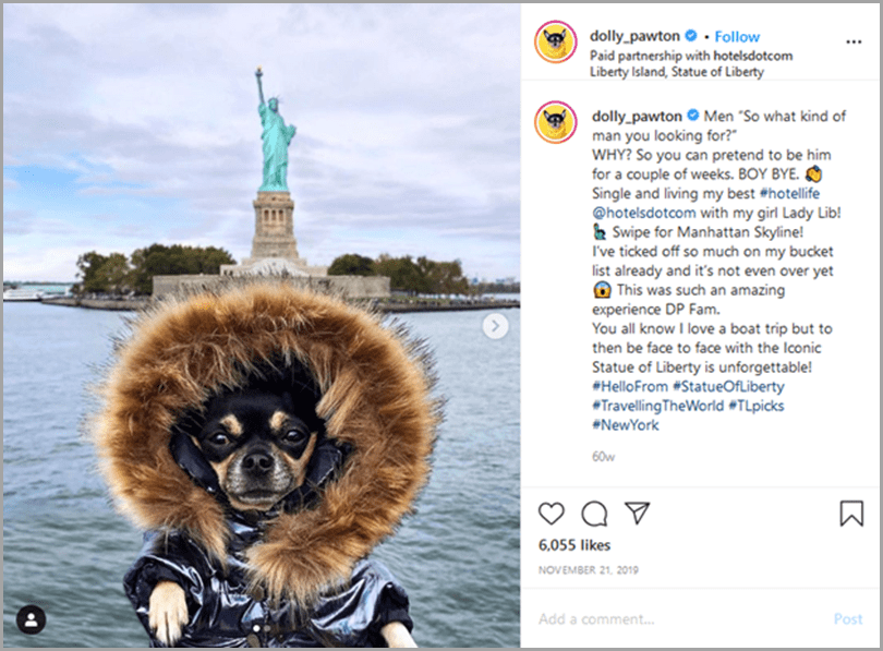influencer-marketing-campaigns-dolly-pawton-instagram-post
