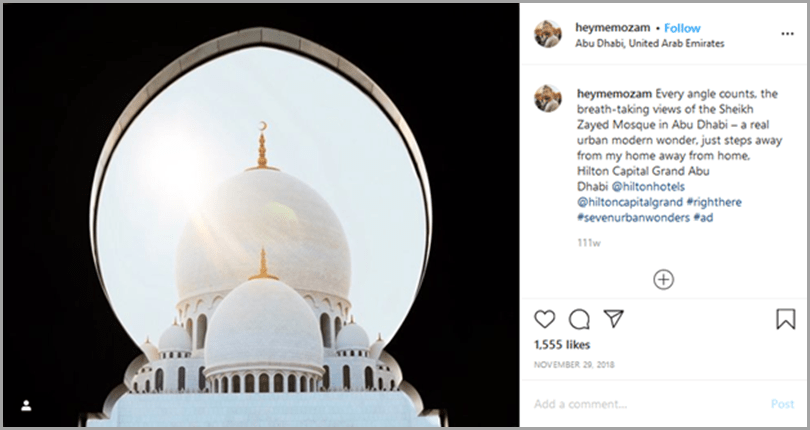 influencer-marketing-campaigns-heymemozam-instagram-post-sheikh-zayed-mosque