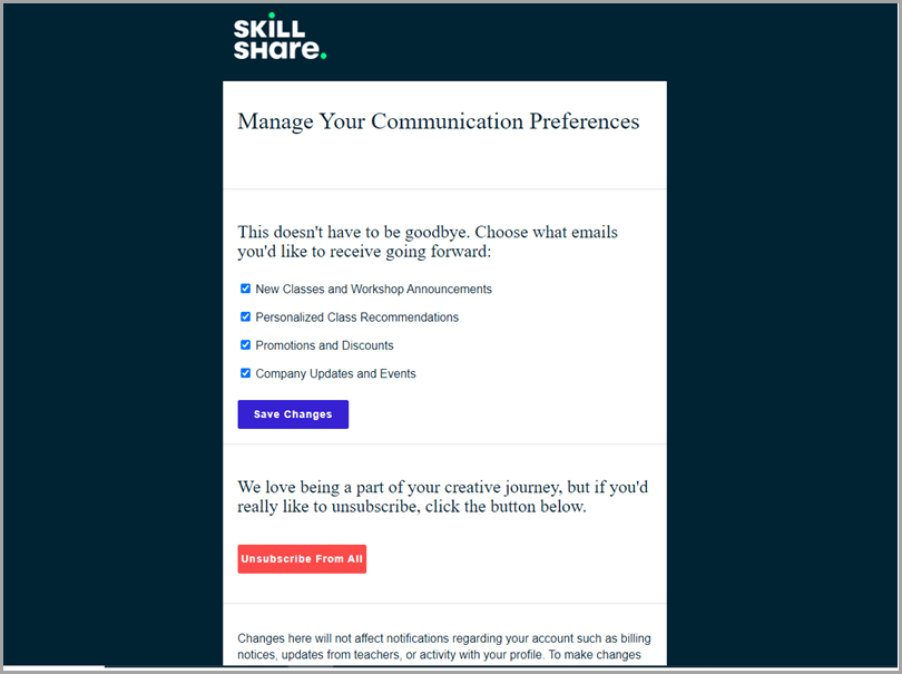 unsubscribe-rate-skillshare-manage-your-communication-preferences