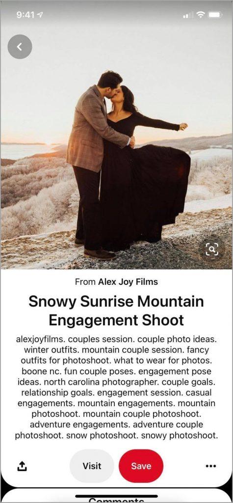Alex-Joy-Films-Snowy-Sunrise-Mountain-Engagement-Shoot