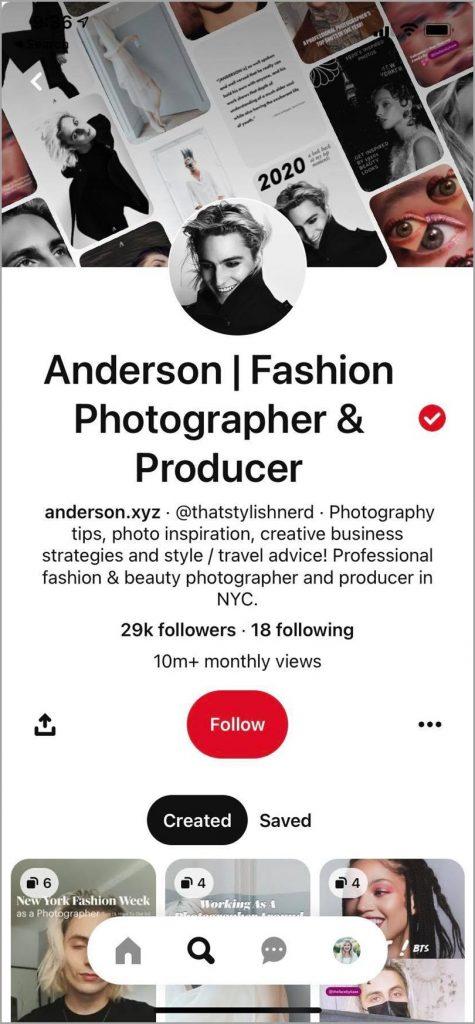Anderson-Fashion-Photographer-Producer-Pinterest Marketing