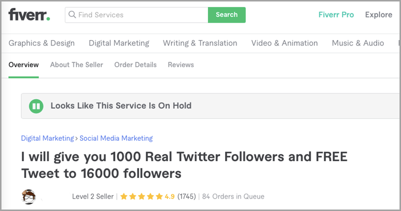 Fiverr-Sell-Fake-followers