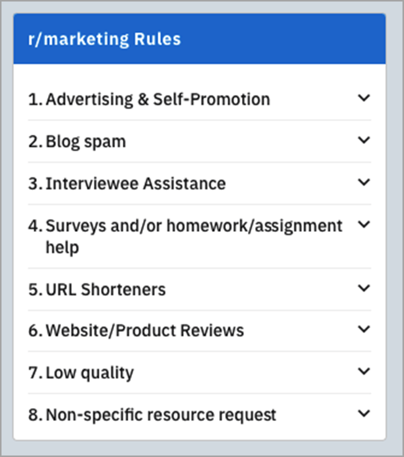 Subreddit-r-Marketing-Rules