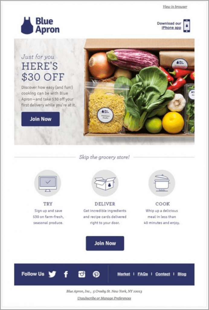 email-newsletter-ideas-blue-apron-heres-$30-off