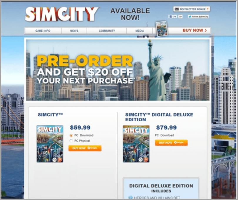SimCity-Pre-Order