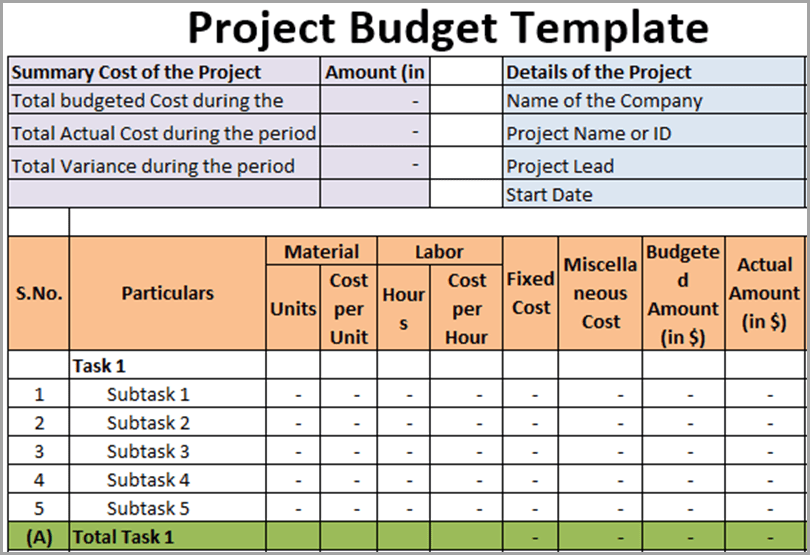 Project-Budget-Template