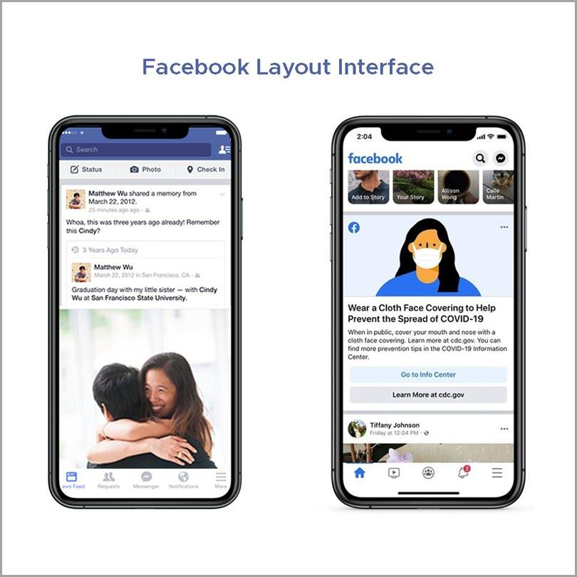 Facebook-Layout-Interface