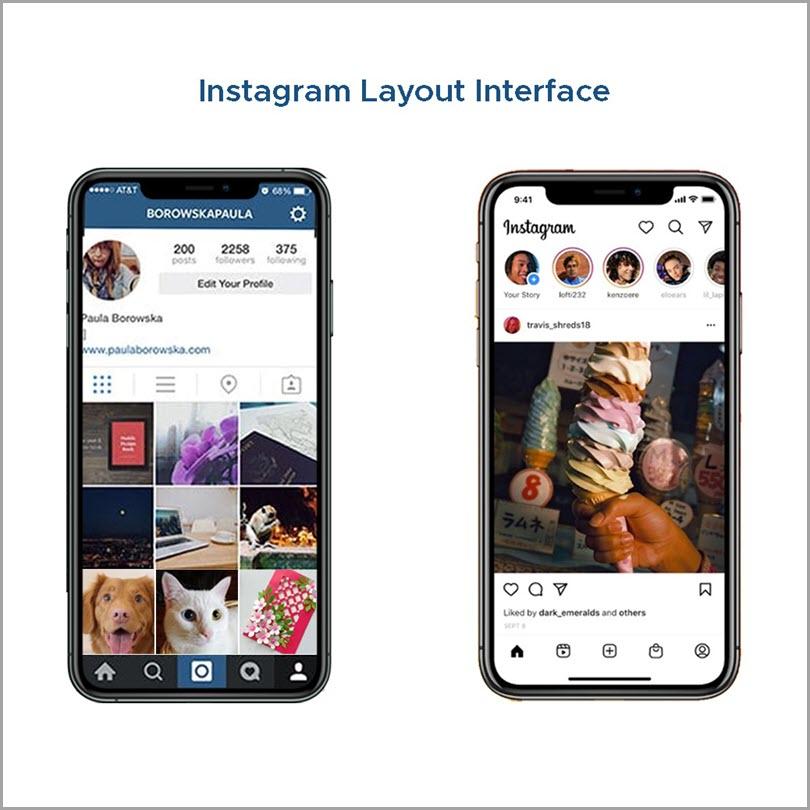 Instagram-Layout-Interface