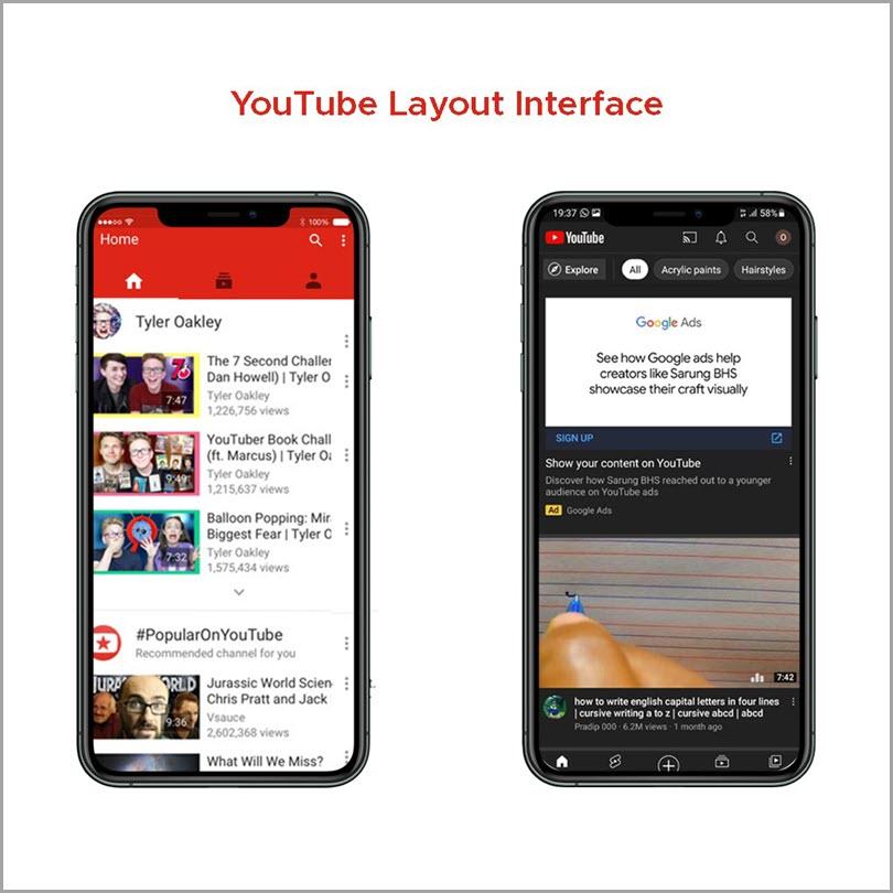 Youtube-Layout-Interface